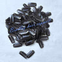 2.8cm 8-T-Tube Stainless Steel Snap Comb Wig Clip for Machine Wefted/Weaving Extensions Salon Accessories 50pcs/bag