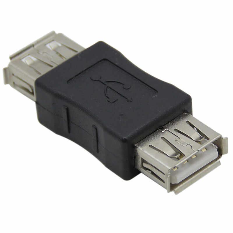 Mini Convertor Safety USB2.0 żeński do żeńskiego adapter złącza praktyczne kable komputerowe i złącza akcesoria