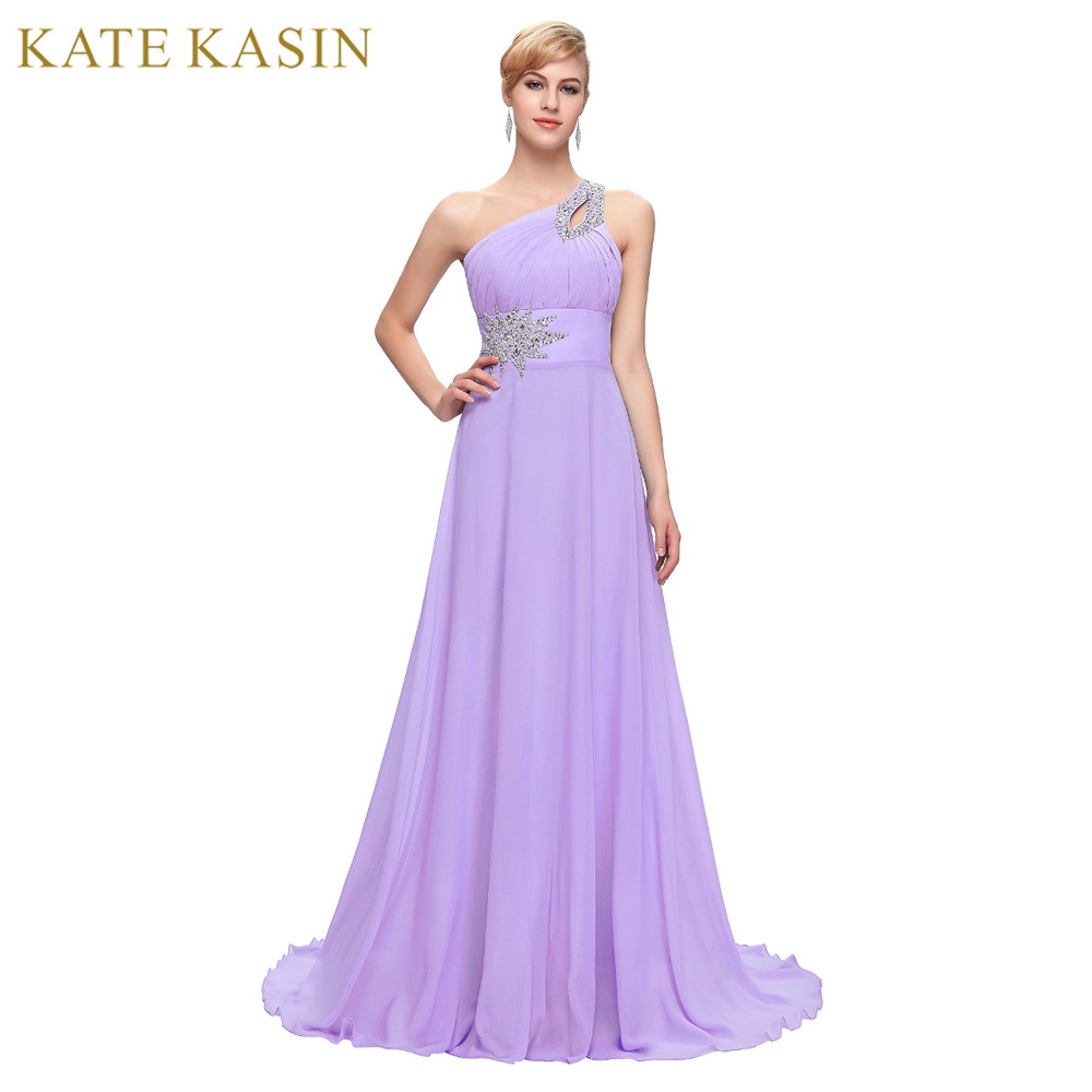 Free Delivery Long Chiffon Bridesmaid Dresses One Shoulder Beading Royal  Blue Purple Red Pink Cheap Bridesmaid bf27bb21cfa1