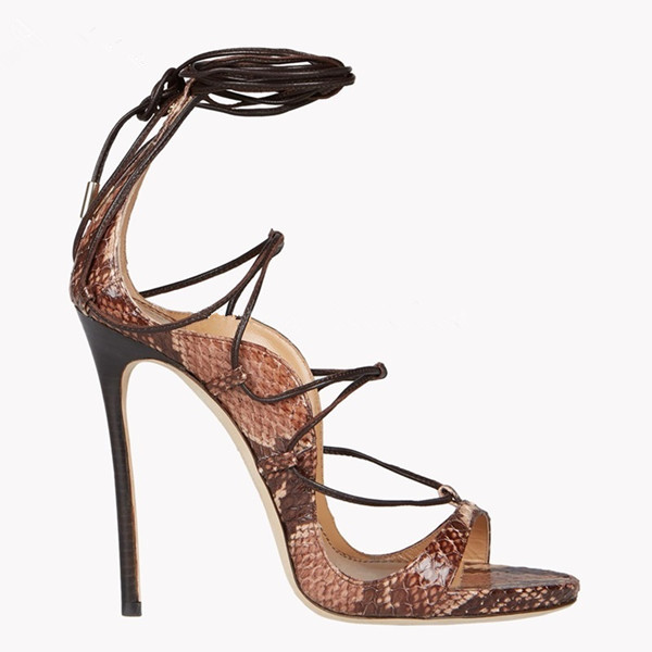 Famous Designer Lace Up Gladiator Sandals Women Platforms Stiletto High  Heels Strappy Sexy Cut Out Booties Runway Woman Pumps-in High Heels from Shoes  on ... 18cece0ca64f