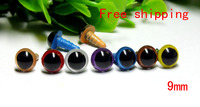 free shipping!!mixed color 9mm Round safety toy eyes with washer for DIY plush doll materials