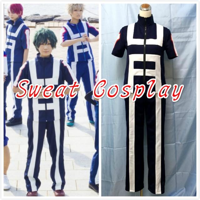 978dda52714f Boku no Hero Academia Bakugou Midoriya Iida School Sportswear top+pant My Hero  Academia Cosplay Costume