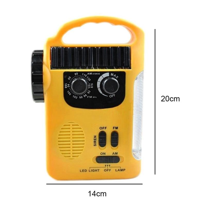 Cell Phone Charger Radio, Led Flashlight Radio, Led Lantern Radio, Siren, Rechargeable Batteries, Hand Crank, Solar Power Radi