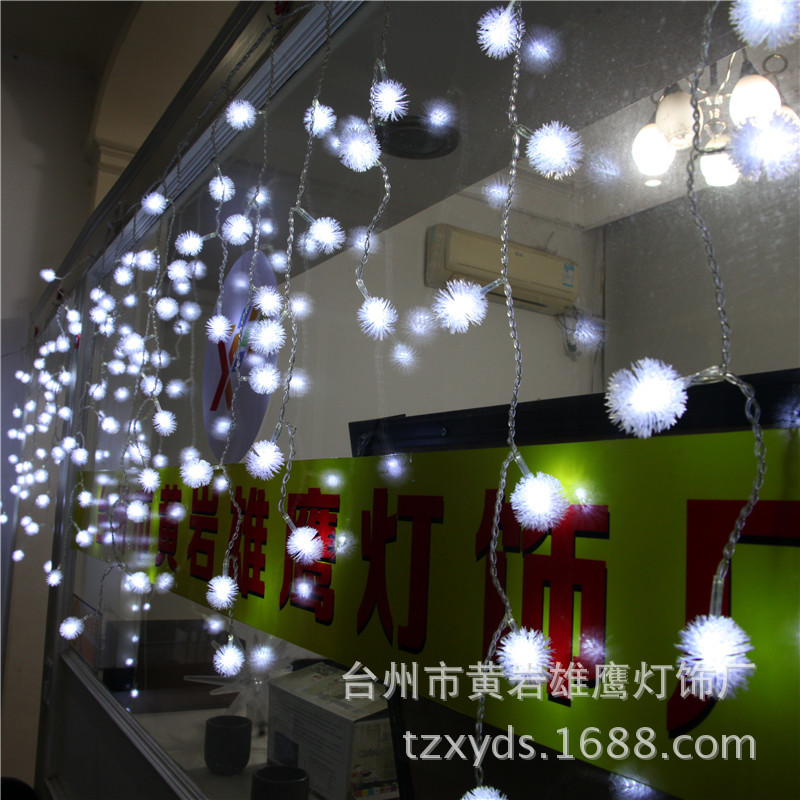christmas decoration wedding decoration lamp string christmas lights background ice ball curtain factory direct led decorative in led string from lights