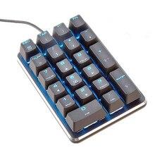 Magicforce Gateron 21-clave Número teclado numérico pequeño teclado mecánico Cereza mx azul Marrón Rojo interruptores del teclado