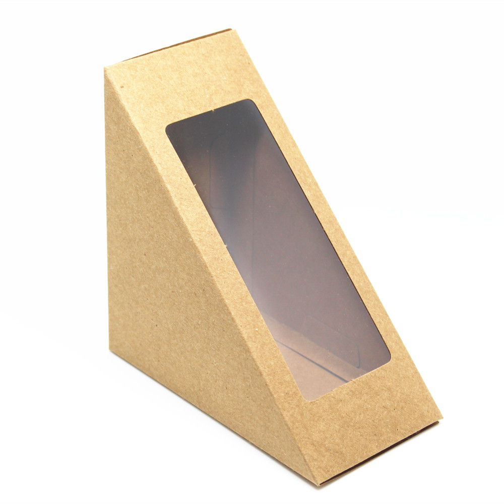 popular paper sandwich box buy cheap paper sandwich box lots from 12 12 6 5cm kraft paper sandwiches packaging pack boxes retro bakery cake bread