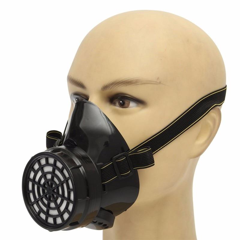Carbone Attivo maschere Antigas No. 3 respiratore unico serbatoio di Protezione Mezza Maschera contro gas organici benzene benzina acetone