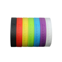 10 Pcs New Kuangmi Gym Bodybuilding Basketball Power Bands Bracelets Fitness Sport Silicone Wristbands Decoration