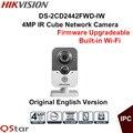 Hikvision original inglês versão ds-2cd2442fwd-iw 4mp câmera ip sem fio microfone embutido wdr 3d dnr & blc cctv camera