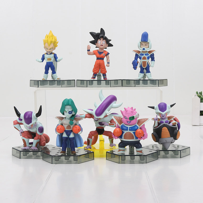 8pcs/<font><b>set</b></font> Dragon Ball Z Action <font><b>Figure</b></font> Son Goku Frieza Freeza Freezer Vegeta Zarbon PVC Model Japanese Anime <font><b>Figure</b></font> <font><b>Dragonball</b></font> image