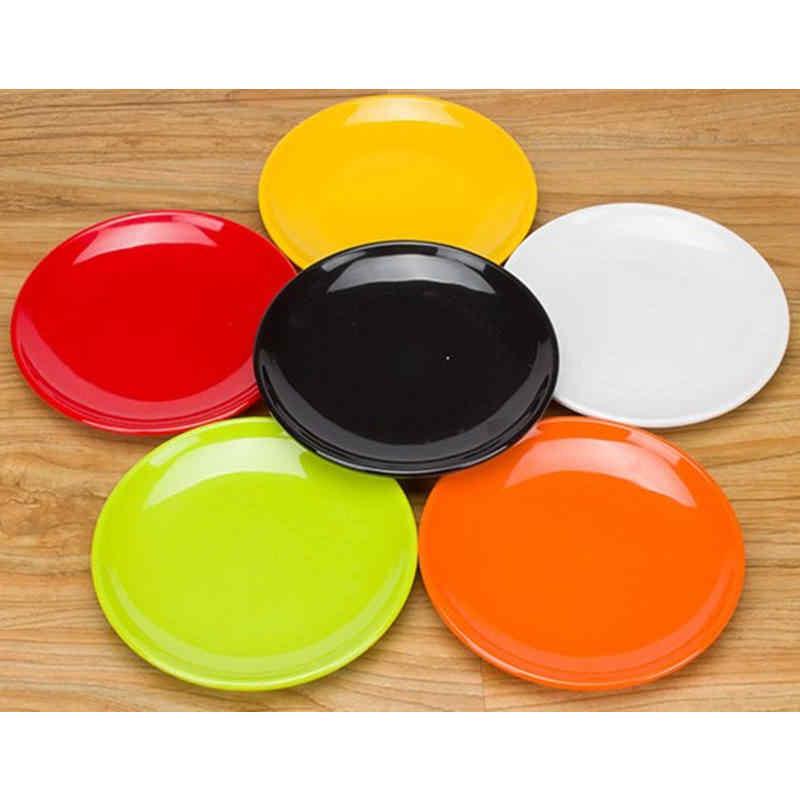 멜라민 원형 접시 접시 친환경 식기류 스파게티 과일 과자 뷔페 냄비 가게 주방 10 인치 1 개