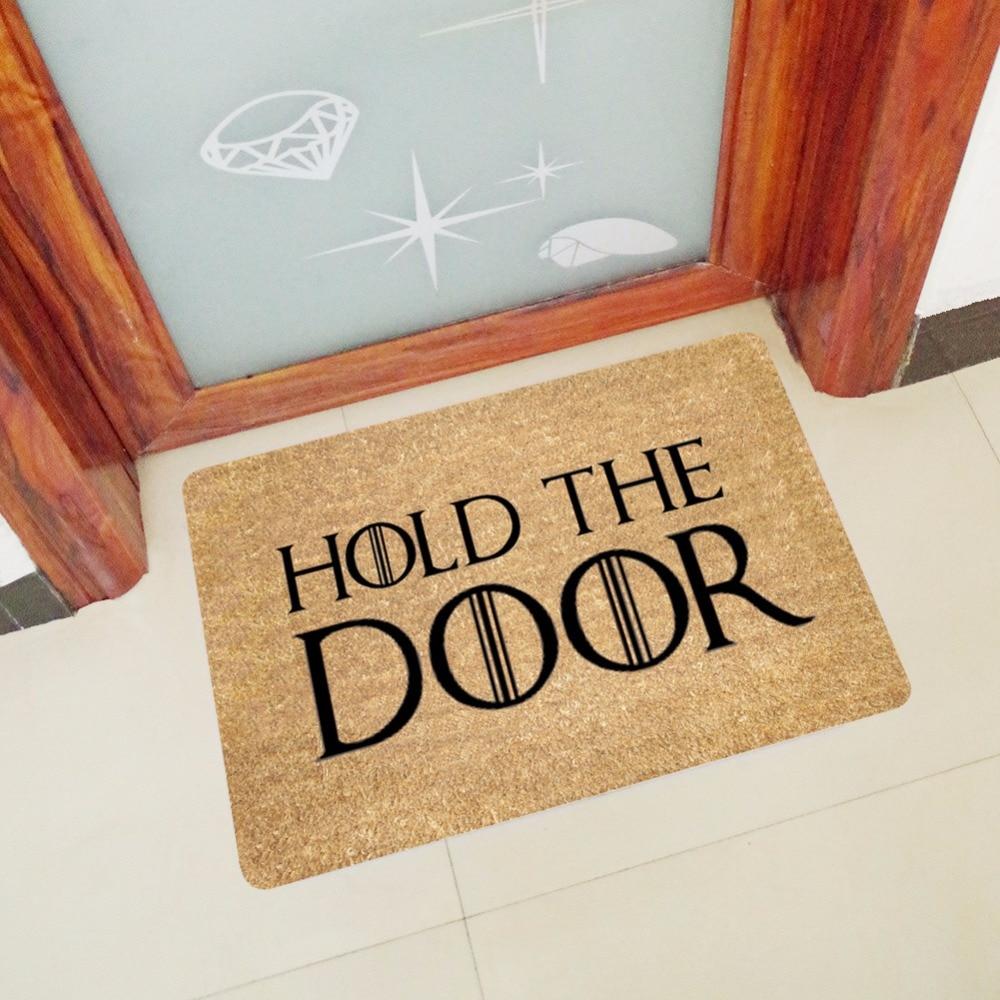 Image 2 - CAMMITEVER Hold the Door Floor Mats Bathroom Kitchen Carpets Children Doormats for Living Room Anti Slip Tapete Rugs-in Rug from Home & Garden