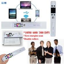 Envío libre! LCD Digital Portátil Wifi Inalámbrico 1050 DPI iScan Escáner de Documentos de Fotos JPG PDF Recibos A4 Mini Práctico escáner