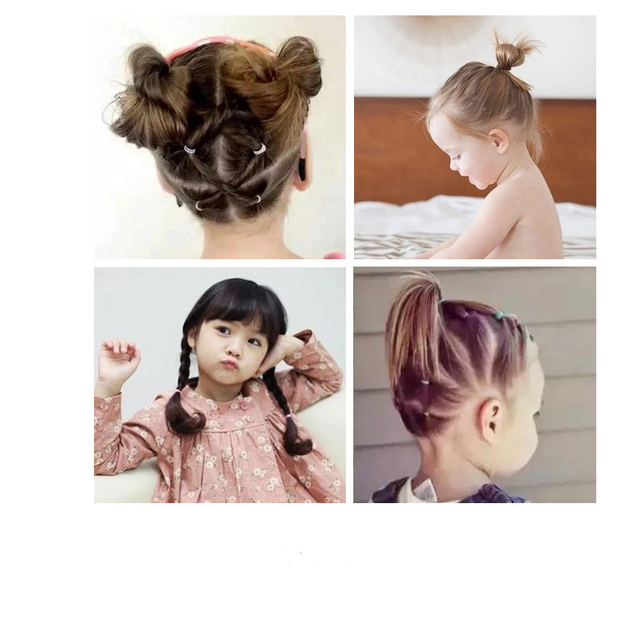 350pcs/pack Transparent Elastic Rubber Bands Gum Child Adult TPU Hair Holders Tie Braids Hair Ring Ropes Hairstyle Accessories