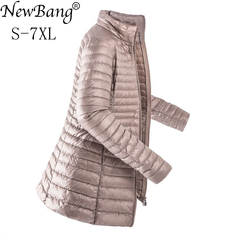 NewBang Brand 7XL Long Winter Down Jacket Women Ultra Light Down Jacket Women Large Size Slim Warm Jacket Female Windbreaker