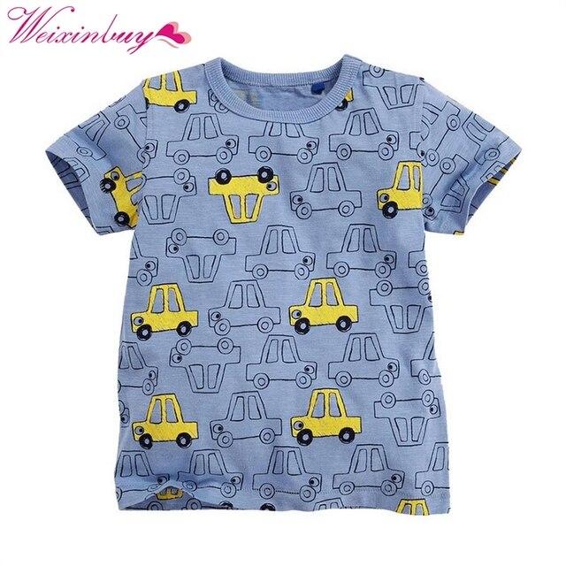 CuteChildren T camisa camiseta niños ropa de bebé niño verano Camisa de algodón de dibujos animados ropa de 1-6Y