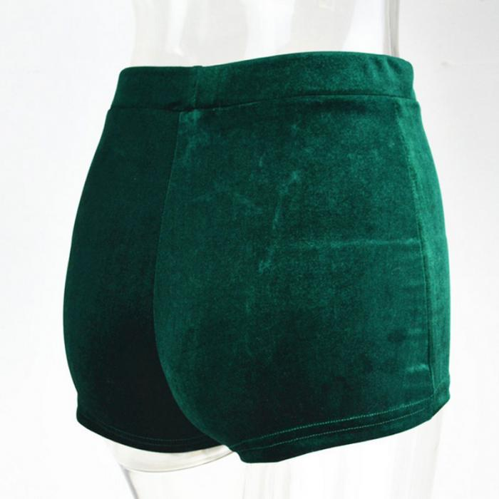 Velvet Drawstring Shorts Casual High Waist Spring Summer Sexy Skinny Short Pants 39
