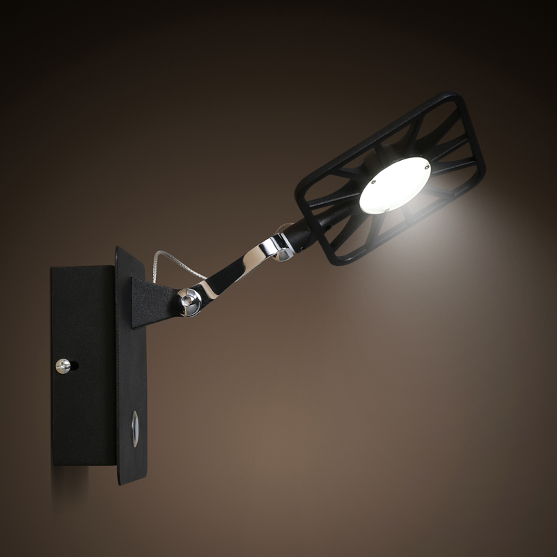 Moderne ijzer kunst ijzer zwart wandlampen studie slaapkamer woonkamer led badkamer balkon spiegel verstelbare wandlamp ZA98409