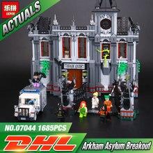 Lepin 07044 1685 pcs super hero series o asilo batman set crianças educacionais blocos de construção tijolos brinquedos presente engraçado 10937