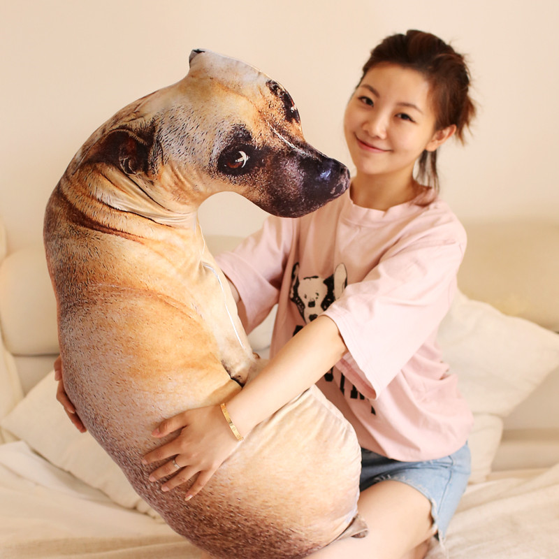 Lovely Stuffed Dog Plush Pillow 50cm Soft Dog Plush Toys Hunter Dog Shar-Per Dog Kawaii Plush Birthday Gift Christmas Gift fancytrader new style giant plush stuffed kids toys lovely rubber duck 39 100cm yellow rubber duck free shipping ft90122