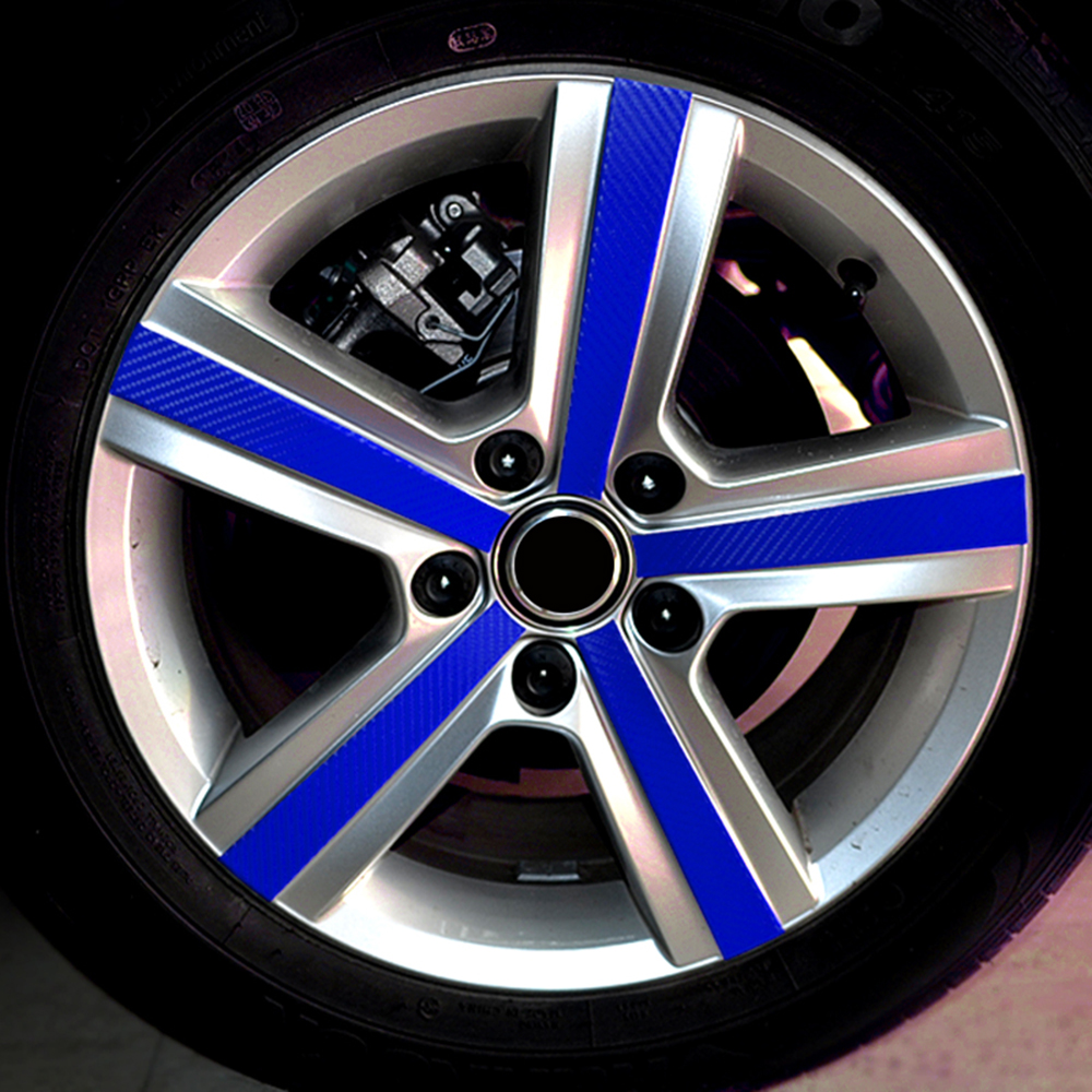 4 Pcs/set Carbon fiber Scratch Protection Film Wheel Hub Rim Car Styling Sticker Decal For VW Volkswagen Golf 7 MK7 Accessories 2016 new lithium battery battery capacity indicator lcd digital percentage residual capacity display