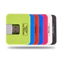 Мини 4 порта USB концентратор Высокоскоростной USB 2,0 концентратор 4 порта адаптер питания сплиттер для ПК компьютера ноутбука периферийные принадлежности подарок