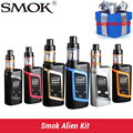 100% original smok kit alien alien 220 w caixa mod com 3 ml tfv8 bebê tanque vape cigarro eletrônico kit vs smok ULTRA