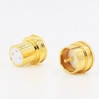 1 conjunto (masculino + feminino) X Hifi Ruído Rolha de Cobre Banhado A Ouro XLR Plug Caps XLR Proteja Caps