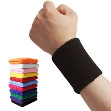 цена на High Quality Recycling Use Protect Wrist Volleyball Basketball Tennis Badminton Sports Sweatband Wristband Sleeve Wrap Pro