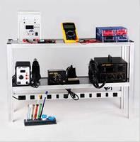 Aletler'ten Elektrikli Alet Setleri'de Alüminyum alaşımlı elektronik çalışma çerçevesi bakım tezgah çift katmanlı kombine deneysel operasyon tüm tamir araçları