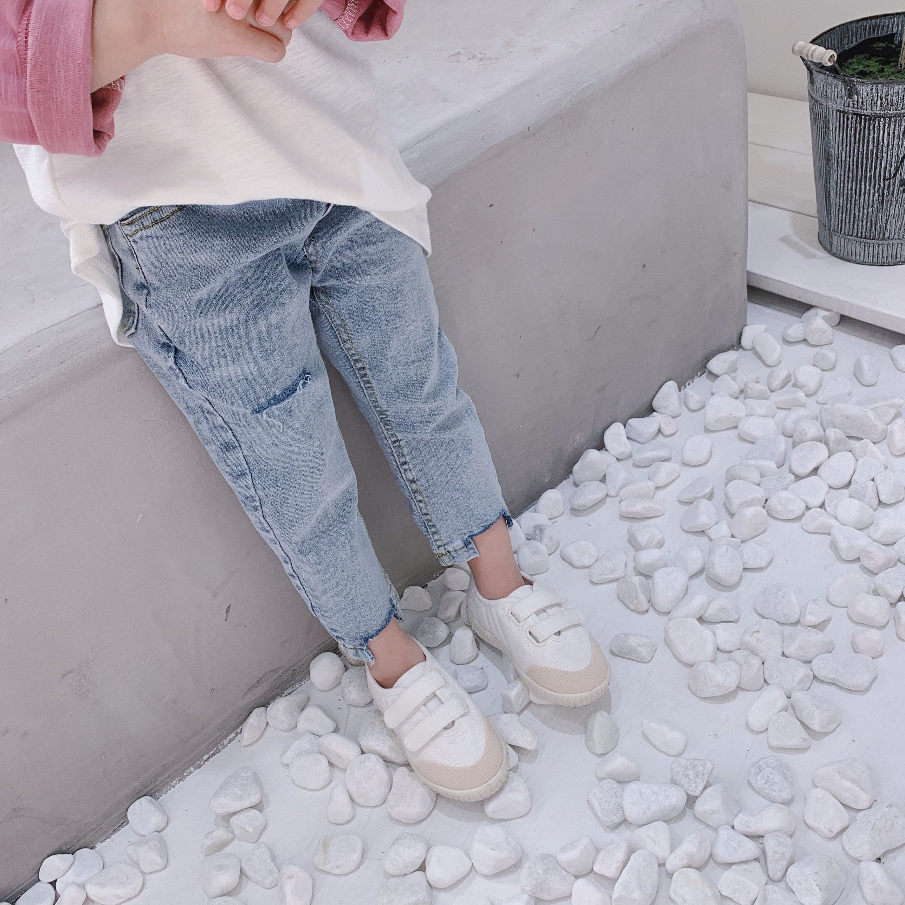 Colorful Living C Little Boys Girls Ripped Jean 2-8 Years