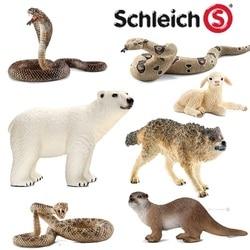 Classic Animal Model Howling wolf Little lamb Polar bear Otter Cobra Python Classic Simulated animal Children's Toys