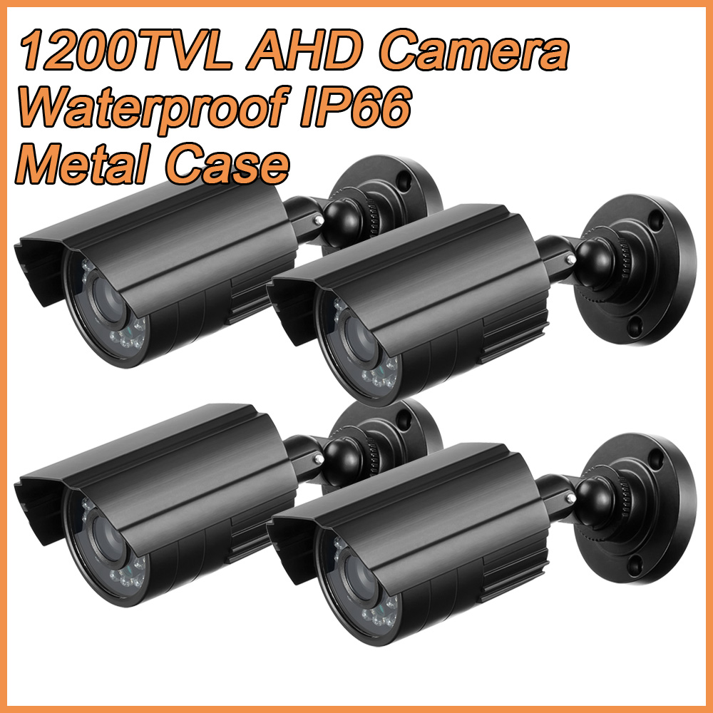 4PCS/lot HD 1200TVL AHD Security Camera Outdoor IP66 Waterproof infrared Night Vision Metal Bullet CCTV Analog Surveillance hd 1200tvl 720pccd sensor 36 ir cut outdoor night vision security waterproof bullet camera 16ch ahd dvr recorder surveillance
