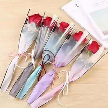 50 шт. Высококачественная упаковка прозрачная подарочная упаковка полиэтиленовый пакет для цветочной розы упаковочные материалы аксессуары