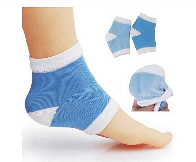 1 пара гель пятки носки увлажнение спа уход футов продукт для потрескавшихся пяток инструмент уход за ногами