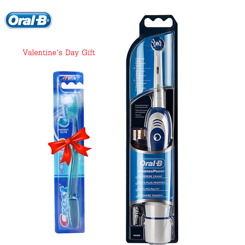 Genuine Oral B Electric Toothbrush Battery Power Tooth Brush Oral Hygiene Braun Oral B Teeth Brush Head 2017 teeth whitening oral irrigator electric teeth cleaning machine irrigador dental water flosser professional teeth care tools
