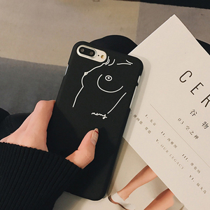 Image 2 - الرجعية خطوط الهاتف حقيبة لهاتف أي فون 6 6S 7 8 زائد قذيفة متجمد الصلب شل غطاء ل فون X XS ماكس XR جراب هاتف s
