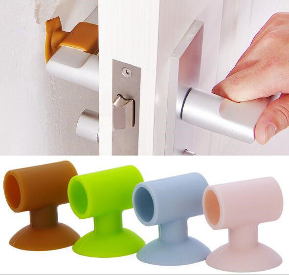 1PC Baby Safety Sucker Rear Door Wall Crash Cushions Handle Door Lock Protective Pad Protection Wall Stick Home Decor NJ 001 image