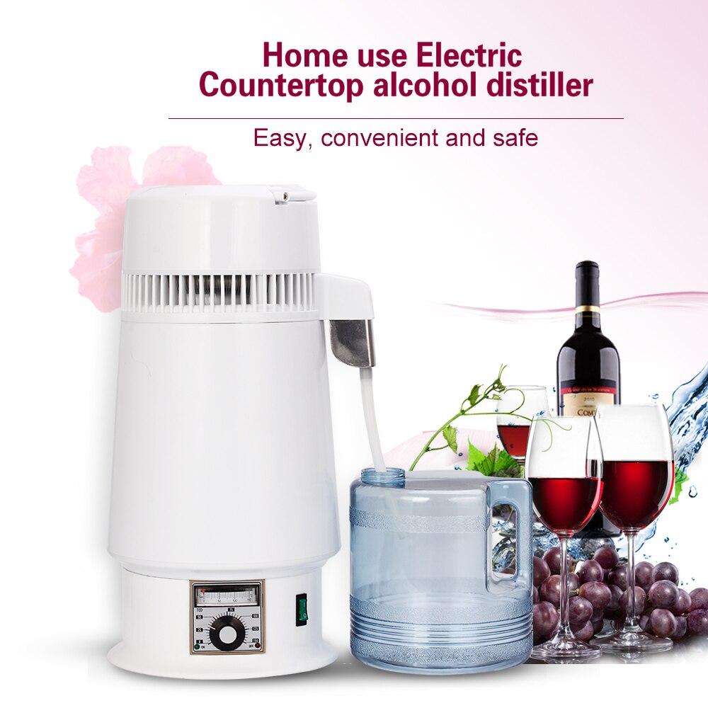 4L Dental Moonshine Home Pure Water Alcohol Distiller Filter Machine Distillation Purifier Equipment Boiler Brewing Bottle Jar
