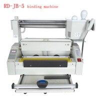 RD JB 5 настольный горячего расплава машина термоклеевая переплетная брошюровочная машина клея машина для переплета книг клей для переплета