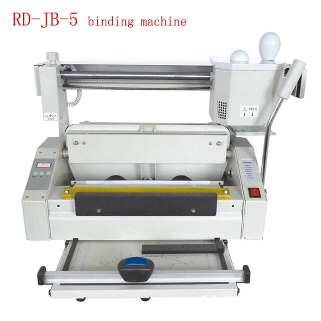 RD-JB-5 Desktop Hot melt glue binding machine booklet maker glue book binding machine glue book binder machine