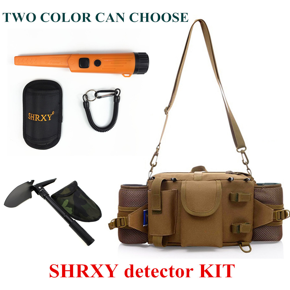 SHRXY Sensitive Gp-pointerII Orange BACK Metal Detector Kit TRX Hand Held Metal Detector with Toolkit Pockets and Shovel