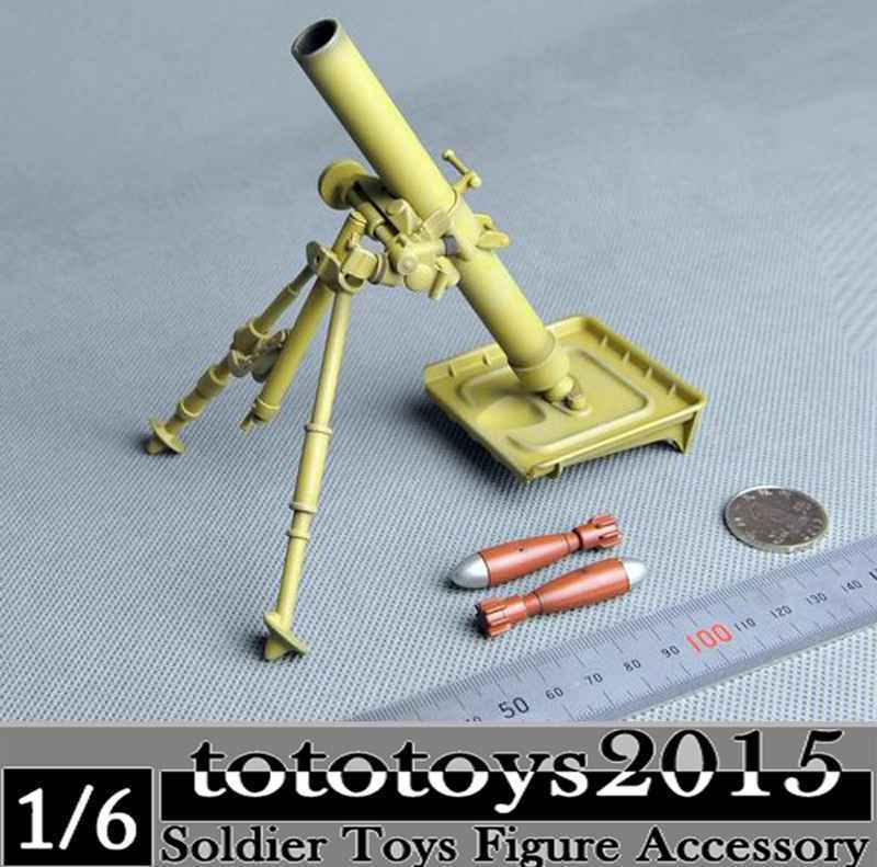 1/6 Scale Soldier Weapons Model Toys WWII German Caliber Mortar Gun Model For 12 Action Figure Body   Accessory