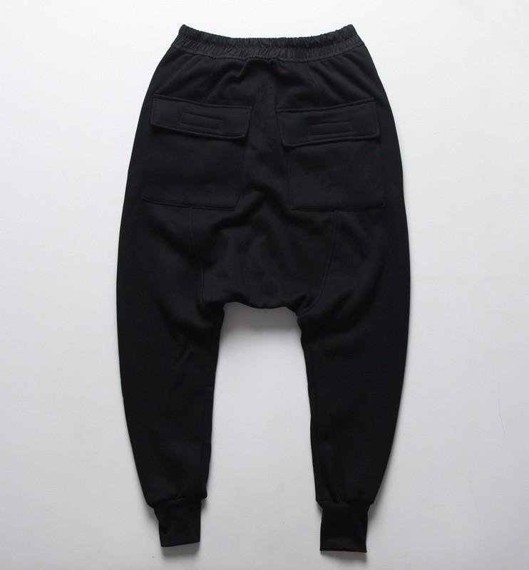 mens joggers Casual urban clothing trousers harem pants men black ... 694d6523510b