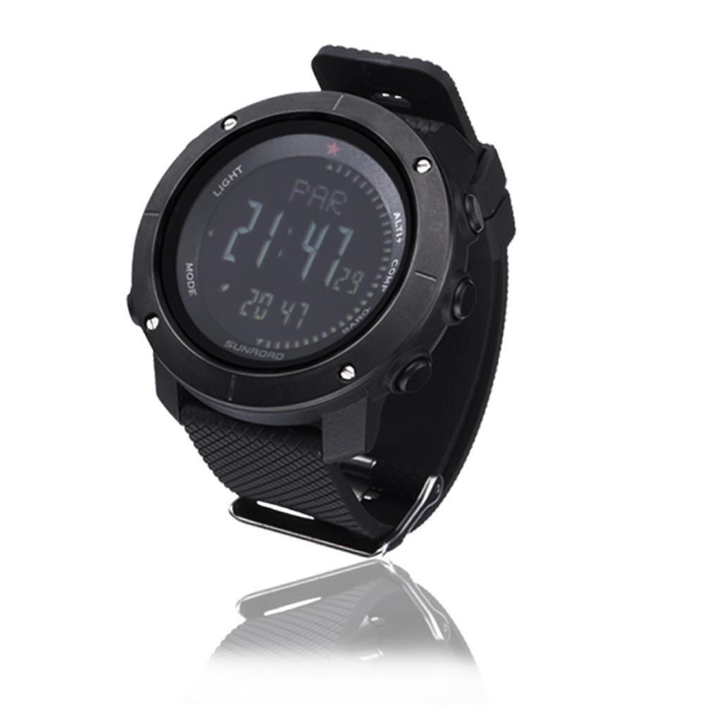 Sports hommes multi-fonctionnelle pression d'air altimètre alarme boussole montres numériques