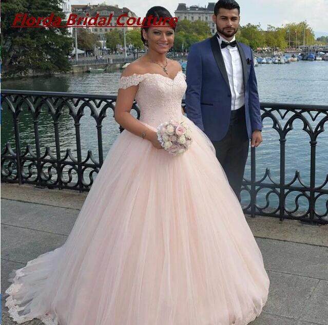 2017 Elegant Ball Gown Light Pink Wedding Dress Wedding Dresses Lace ...