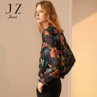 2018 осень сломанный diamond Малый рубашка женская рубашка с принтом женская модная рубашка с цветами JUZUI