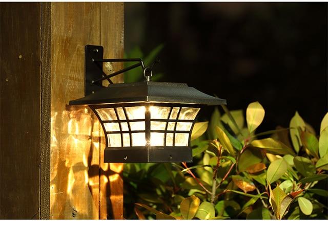 European style Garden c&ing LED solar light Outdoor lights wall Sconce LED Garden Light Solar Post & European style Garden camping LED solar light Outdoor lights wall ...