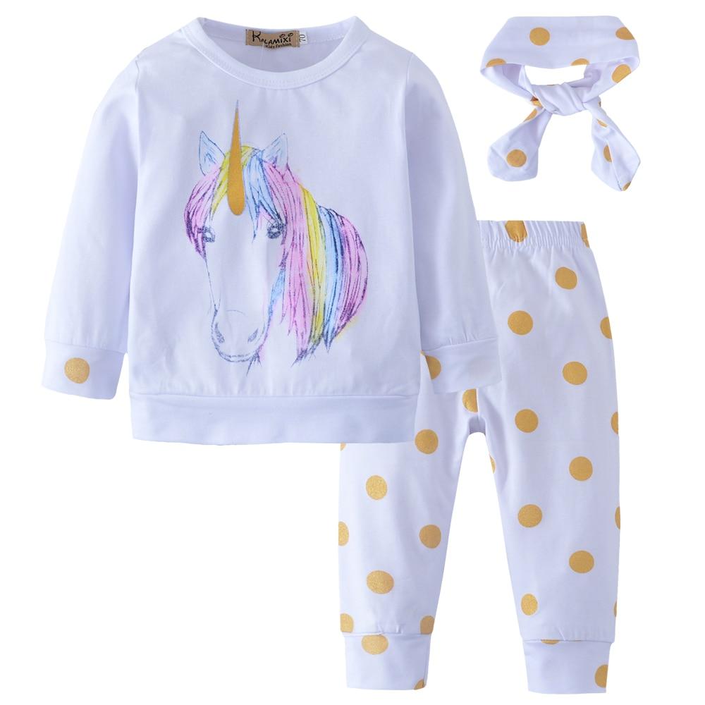Newborn Baby Girls Unicorn Romper Top Jumpsuit Bodysuit Outfits Clothes Pre US