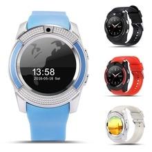 V8 Esporte Relógio Inteligente Relógio Anti-perdida Smartwatch SIM Apoio TF Cartão Câmera Chamada de Contagem de Passos do Sono Para Lembrar o telefone Android PK Y1